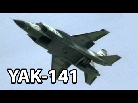"""Yak-141 """"Freestyle"""" - Farnborough Airshow 1992. The project started in 1975 to make a supersonic VSTOL capable of surpassing Harrier's speed and capability. The project was sold to Lockheed in 1991 and was used to start the X-35 (F-35) project."""