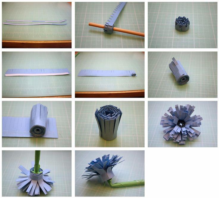 3D Gerbera Daisy and Fringe Flower