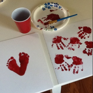 Valentines day crafts for you and your toddler.... Heart prints!!!  @Becca Huber