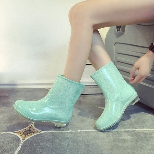 Promotion price Fashion Rain Boots PVC Korean Style Rubber Shoes Mid-Calf Slip on Pure Color Lady Rainboots Soft Rubber Boots for Women just only $13.63 with free shipping worldwide  #womenshoes Plese click on picture to see our special price for you