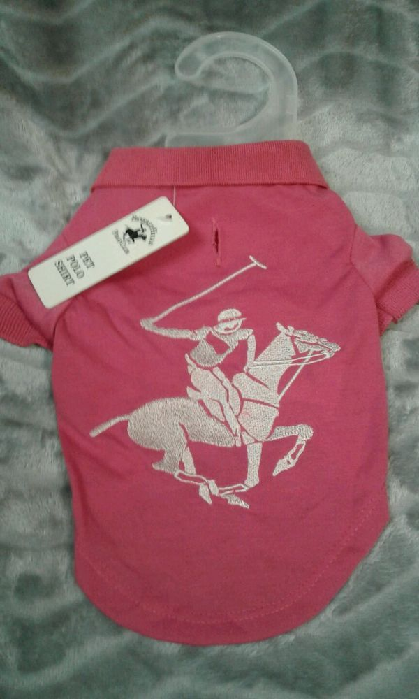 Beverly Hills POLO Club PET Hot pink Polo shirt DOG size L #Beverlyhillspoloclub