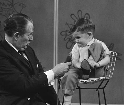 "Art Linkletter's ""House Party"" TV show, featuring ""Kids Say the Darndest Things"" 1955 ti 1961."