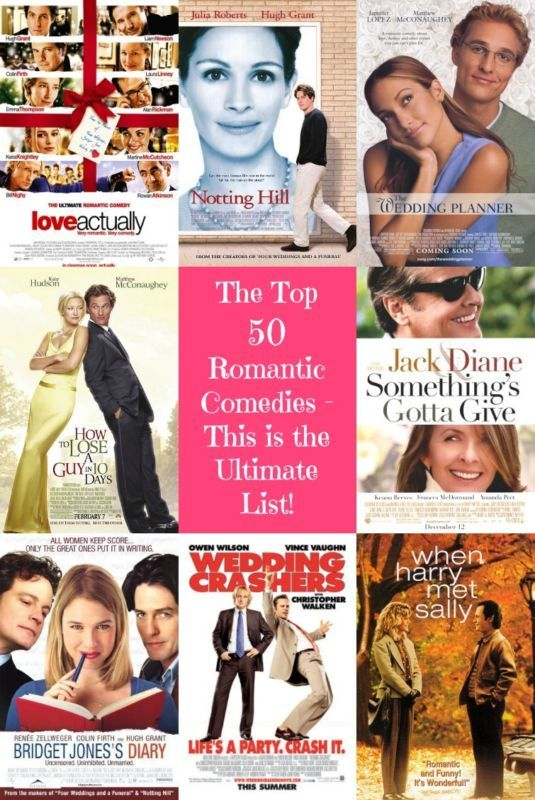 Calling all romantic comedy lovers! You know who you are… you absolutely love movies with a plot related to love and romance but where the story is delivered with some humor – the kind of fluffy movies that you really don't have to pay great attention to the details. Maybe you know them as 'chick flicks' or the cooler, 'rom com'?  Either way, we have the ultimate list of the top 50 that you HAVE to see!