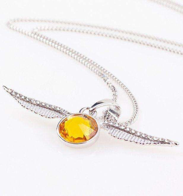 761668882 Swarovski Crystal Embellished Harry Potter Golden Snitch Necklace  #harrypotterjewelry
