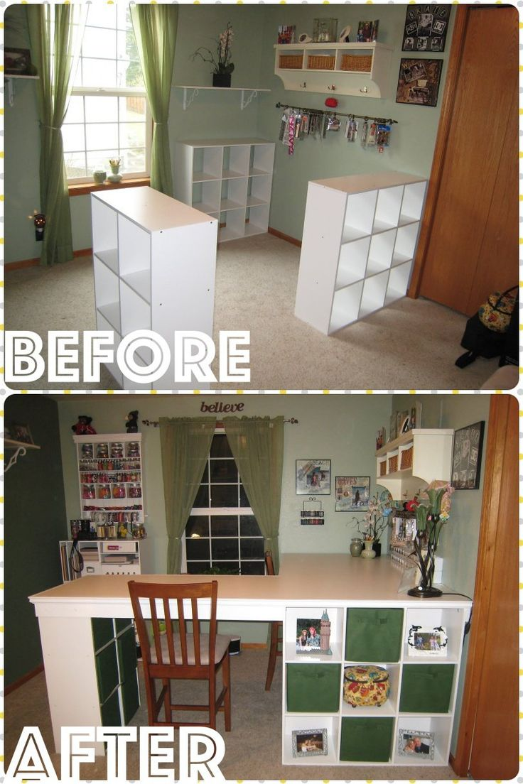 Craft rooms on a budget - Diy Awesome Four Station Desk On A Budget
