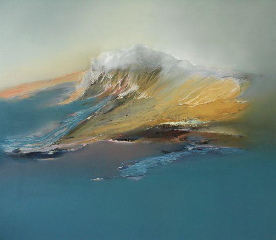 """Cloudline with Yellow"" by Elaine Jones. Oil on Canvas. 122cm x 130cm £2595.00  http://www.wills-art.com/artist/elaine+jones"