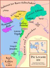 Die Kreuzfahrerstaaten nach dem ersten Kreuzzug