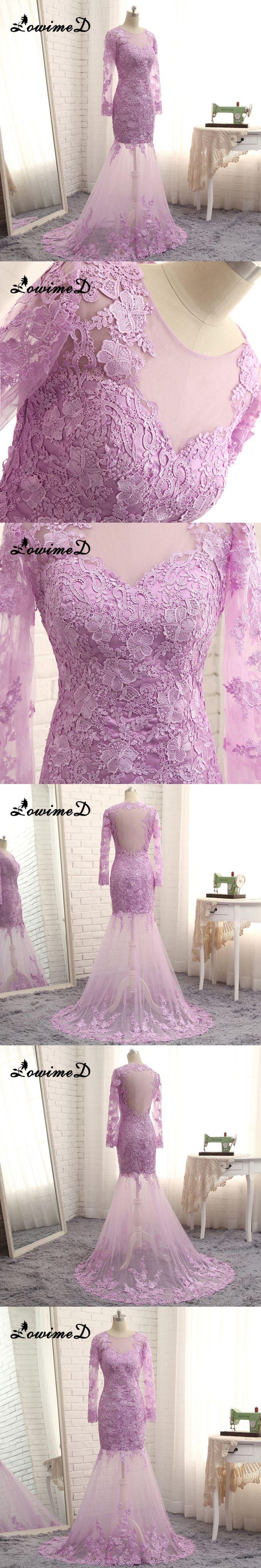 2017 Real Pics Elegant Mermaid Evening Dress Hot Floor Length Sheer Neck Appliques Wedding Party Dress Robe De Soiree Custom