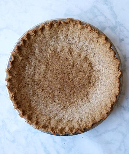 Use this almond-based crust anywhere you would a graham cracker or cookie crust—think, key lime or a chocolate cream pies. Its nutty flavor provides a welcome slightly savory contrast against sweet pie fillings, and you'll be pleased at how easy it is to make (just 5 ingredients!)