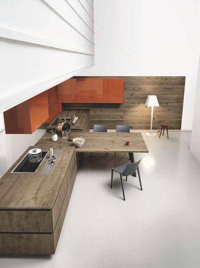 Cuisine moderne en bois : meubles, plan de travail... - CôtéMaison.fr