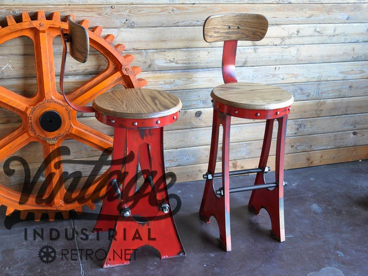 This stool tips the scales at 40 lbs, is 30″ in height, has a 16″ aged hardwood top, and 2 solid steel 1″ thick machine screws for a foot rest. As always, this piece is commercial quality and built to outlast you.  43lbs (Large Stool)  13 x 16 footprint  16 round solid mahogany top  Available in various colors like the red shown (upcharge from base price)