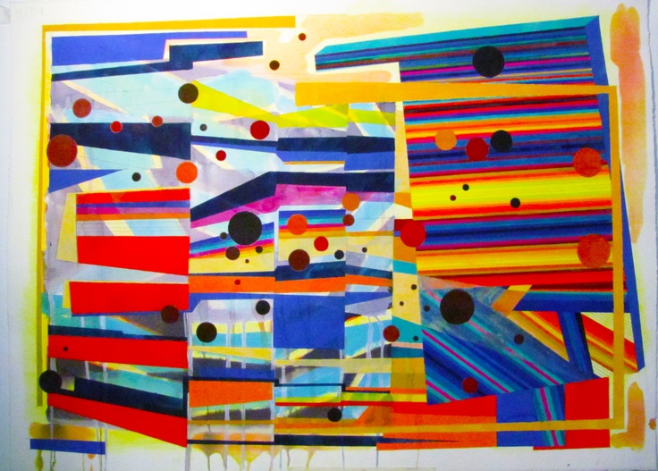 Protocal. Watercolour, Gouache, Acrylic, Pencil. Painting on A1 Fabriano paper.