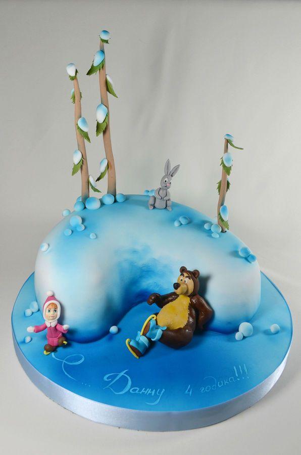 masha i medved birthday cake