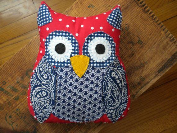Americana Owl: handmade owl patriotic room by AnimalCrackersbysue