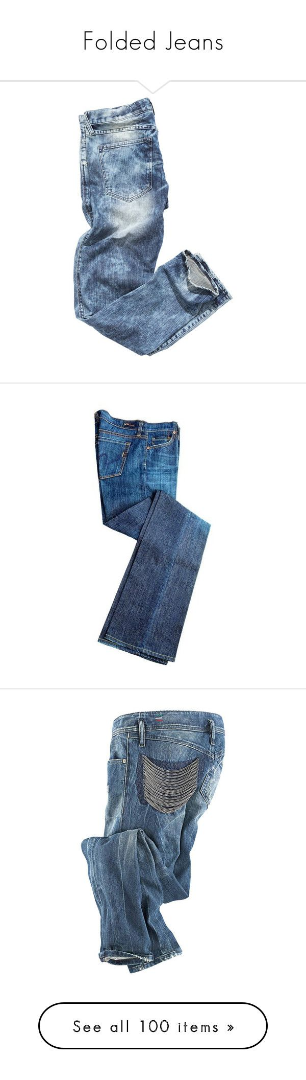 """Folded Jeans"" by bellamarie ❤ liked on Polyvore featuring jeans, pants, bottoms, trousers, fillers, calças, blue jeans, pantalones, diesel jeans and diesel skinny jeans"