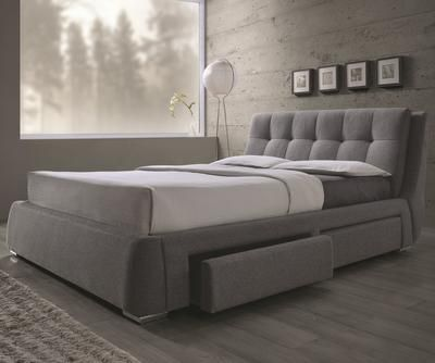 Queen+Upholstered+Bed+with+Storage+Drawers!+UNIQUE+DESIGN!+HOT+BUY!