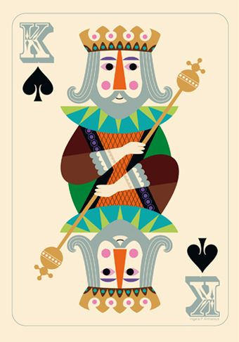Ingela P. Arrhenius. Good visual to use with self portrait playing card lesson.