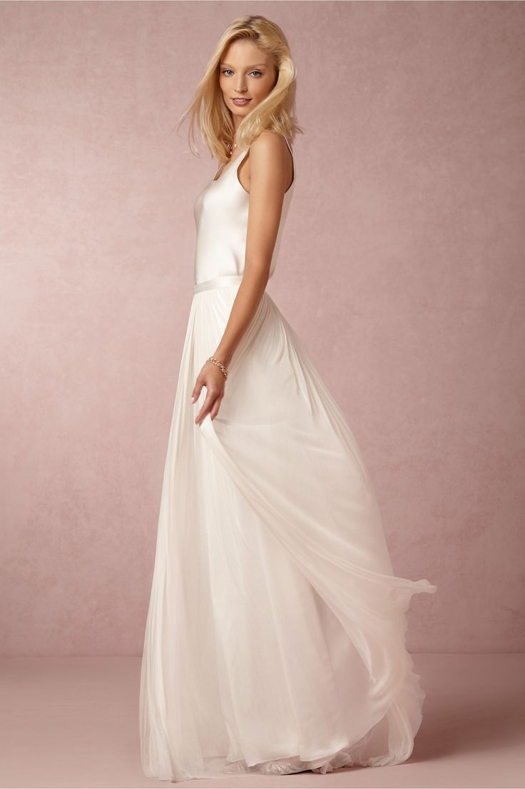 BHLDN Anika Tulle Skirt & In Perpetuity Camisole in Bride Wedding Dresses at BHLDN