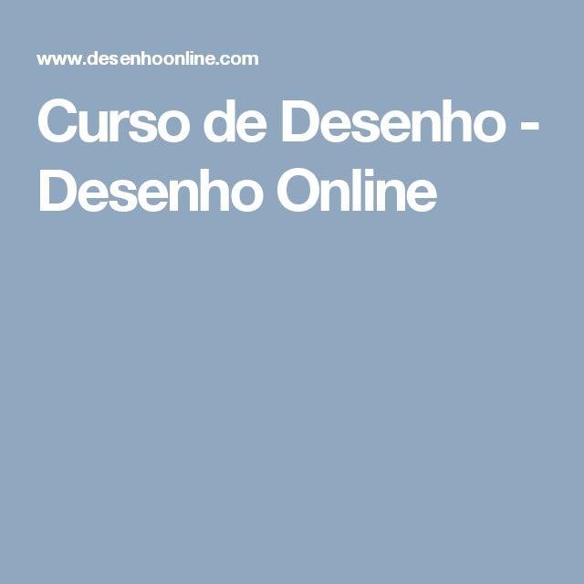 Curso de Desenho - Desenho Online
