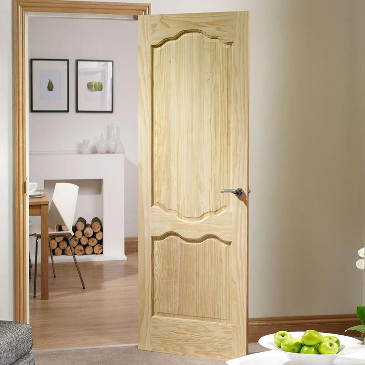Louis Clear Pine Door. #pineinternaldoor #traditionalpinedoor #pineinternalpaneldoor
