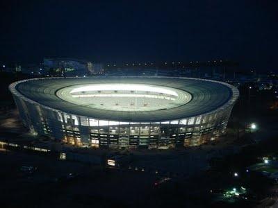 Cape Town Stadium by night