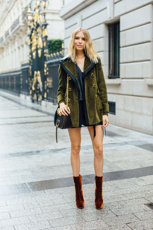 Mustard velvet and sheering jacket, this truly is a one off piece, but if I could find something ever remotely similar, I would be very, very happy. Autumn Winter Street Style Inspiration 2017.