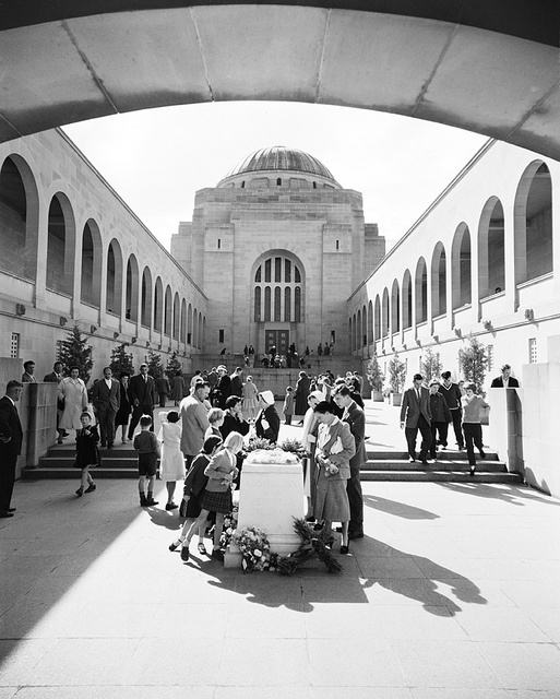 Anzac Day Service at the Australian War Memorial, Canberra, 1960