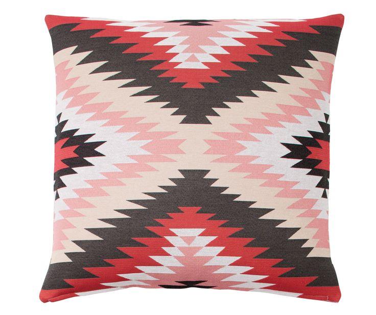 Still our Favourite | Kiva Red Feature European Pillowcase