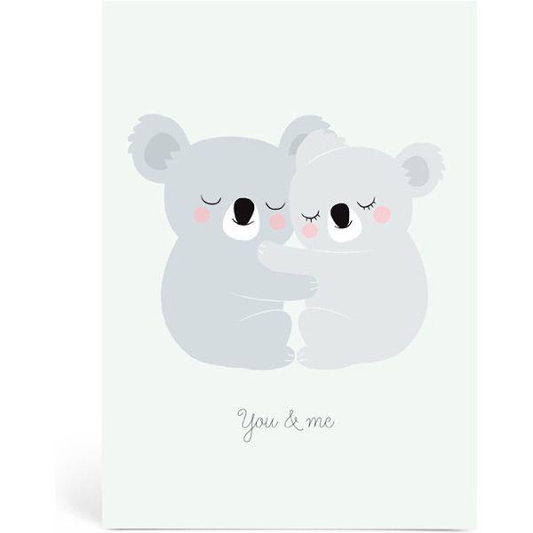 Grande carte You & Me - Koalas (A5 : 14,8 x 21 cm) - Zu