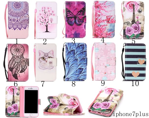 Fashion IPhone 7 Plus Wallet Case For IPhone 6/6S/7 Plus Pu leather Flip Cover