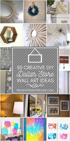 50 Creative Dollar Store DIY Wall Art Ideas