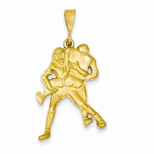 14k yellow gold wrestling charm pendant products 14k yellow gold wrestling charm pendant aloadofball Image collections