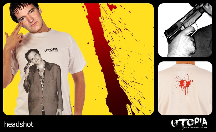 http://www.facebook.com/UtopiaLux Unusual tshirt design. #tarantino #movie #gun #blood #blow #design #lookbook #sick #funny #utopia #marihuana #joint #kill bill