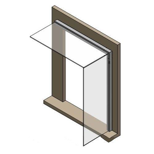 Seitenwindschutz Listello eckig passend zum Glasvordach Dura