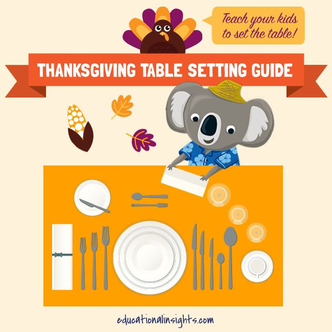 Make little kids feel a bit bigger with a few fun Thanksgiving responsibilities, like setting the table!