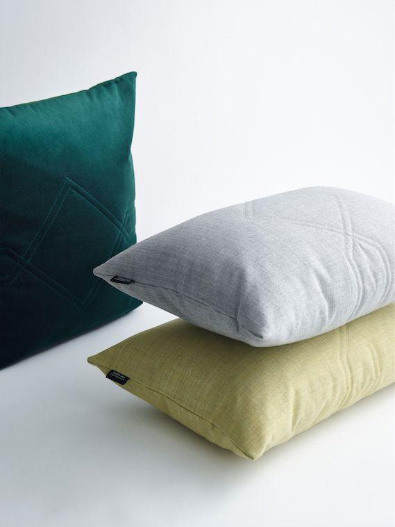 Diamond cushions in velvet and fabric from Kvadrat - LOUISE ROE COPENHAGEN SS16