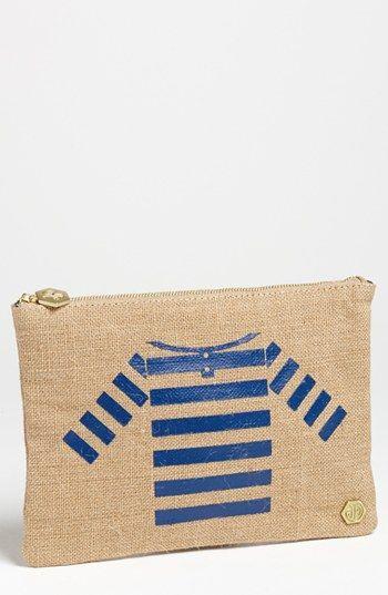 the cutest canvas pouch {love the sailor shirt}