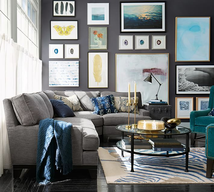 Blessed with extra space? Kick up your feet with a sectional. Trust us, you won't be able to decide whether the cozy corner or chaise is your favorite part of your new sofa.