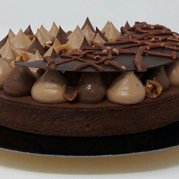 Tarte chocolat et noisettes de Julien