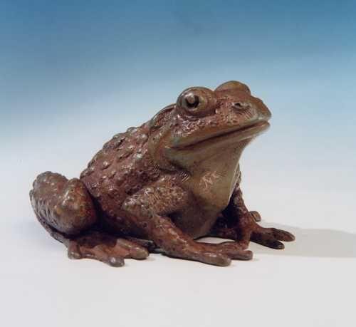 Bronze lost wax casting Public Art #sculpture by #sculptor John McKenna titled: 'Jersey Toad' #art