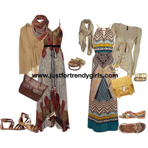 trendy casual hijab maxi dress 5