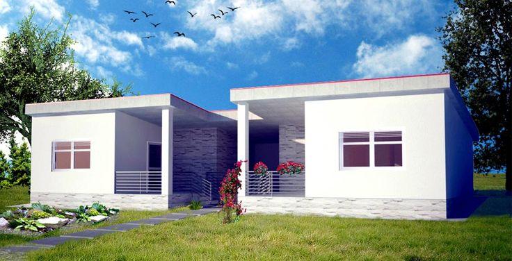 moderna chata vizualizacia / modern house