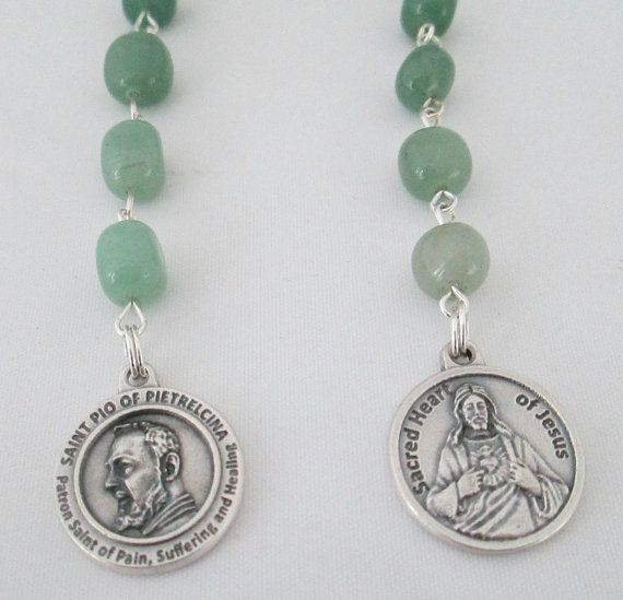 Padre Pio Rosary Novena Patron Saint of by AwfyBrawJewellery