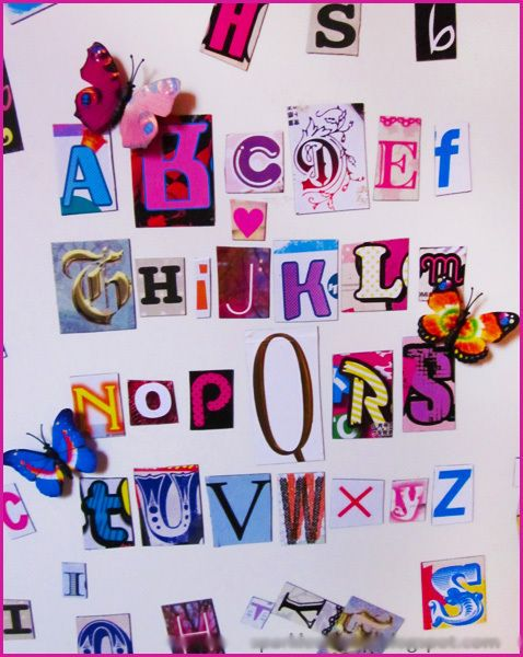 Ransom Note Style Magnets From Japanese Fashion Mags