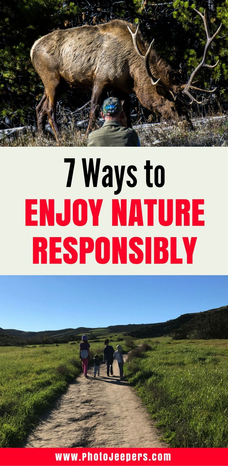 When exploring nature, it's important to do it responsibly so you can continue to enjoy that spot for years to come. We will share 7 ways you can enjoy nature responsibly and what it means to be a responsible traveler in nature. Make sure you check out this post before your next adventure so you can learn how to leave no trace behind. Don't forget to save these tips to your travel board so you can find it later.