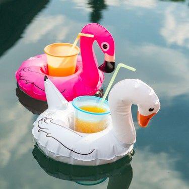 Summertime   #cheers #getränkehalter #schwimmend #flamingo #aufblasbar #sommerfeeling #summer #drinks