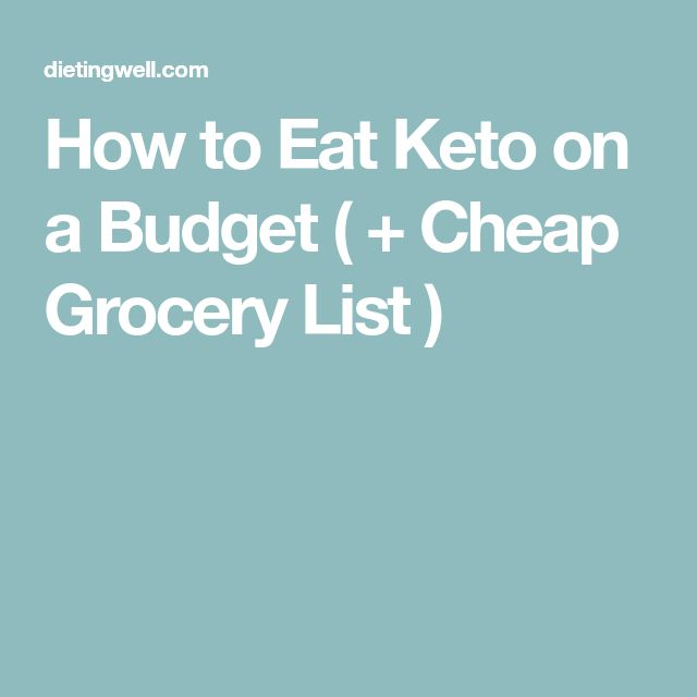 How to Eat Keto on a Budget ( + Cheap Grocery List )