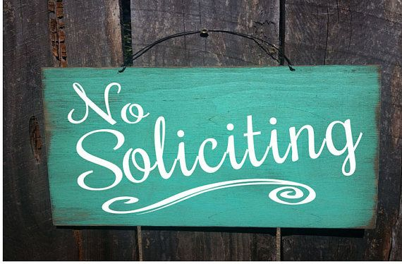 no solicitation sign No Soliciting Sign by FarmhouseChicSigns