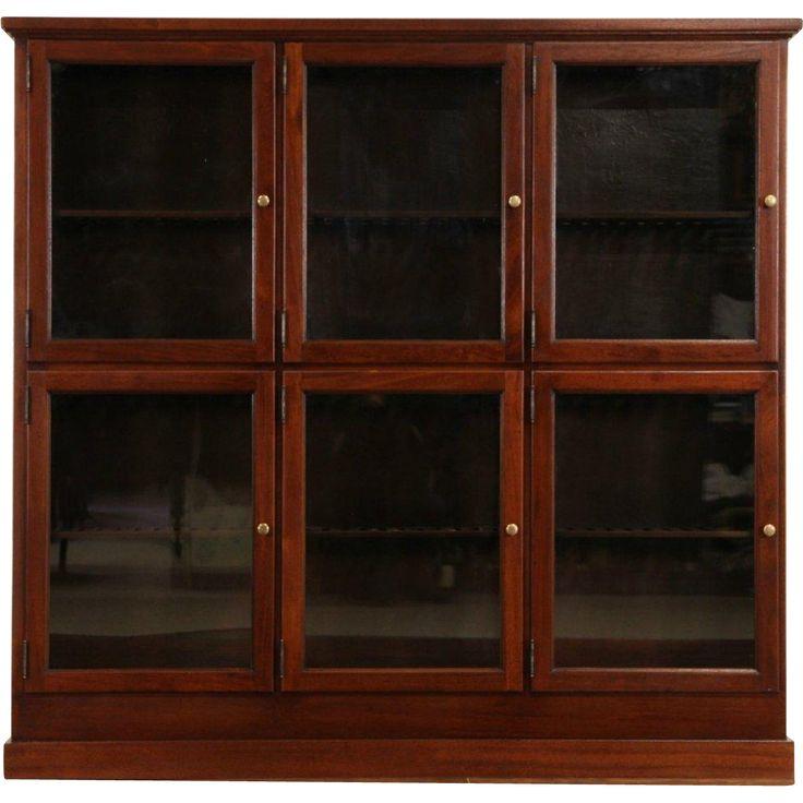 Cigar Tobacco Store Humidor Cabinet, 1900's Antique Mahogany, 6 Glass Doors