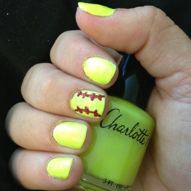 Home gt accessories nail art softball. View Images ... - Nail Designs For Softball ~ Diy Softball Nail Design Big Toe White
